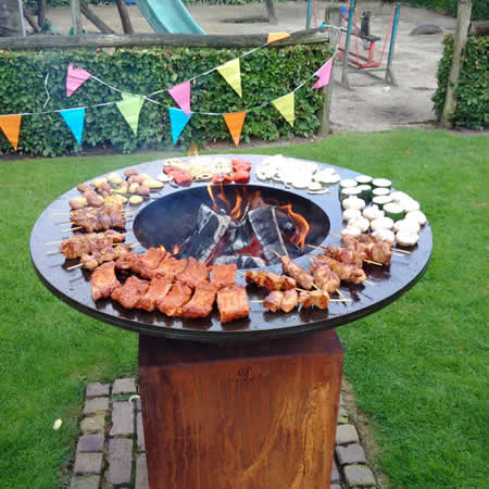 houtgestookte barbecue